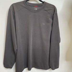 The north face long sleeve tee Brown tshirt L gray